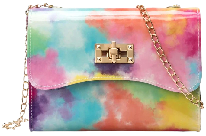 Toggle Lock Tie Dye Chain Crossbody Bag   SHEIN USA
