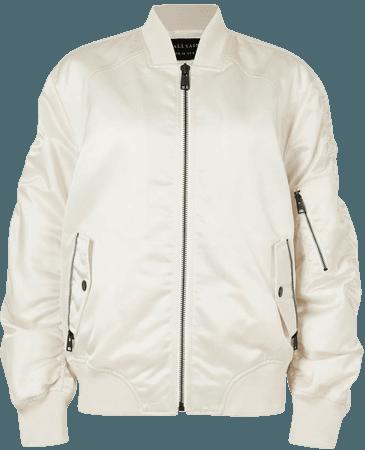 ALLSAINTS US: Womens Robin Bomber Jacket (ivory_white)