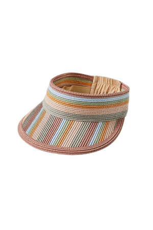Striped Straw Visor | Urban Outfitters