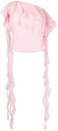 Blumarine, off-shoulder draped blouse