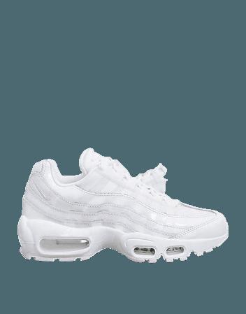 Nike Air Max 95 sneakers in triple white | ASOS