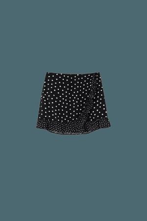 Ruffled polka dot skirt - pull&bear