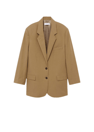 Lyocell oversize blazer - Women | Mango USA