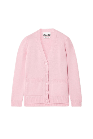 Merino Wool Cardigan - Baby pink
