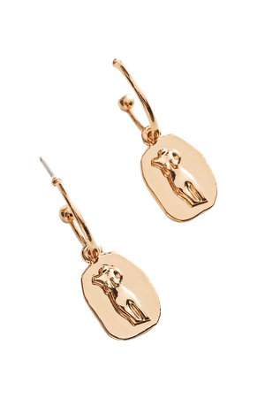 Silhouette Charm Hoop Earring | Urban Outfitters