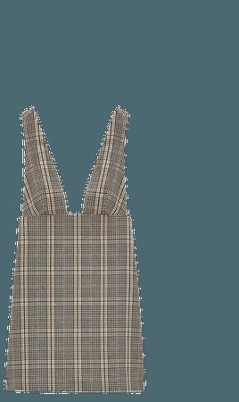 CHECK PINAFORE SKIRT | ZARA United Kingdom