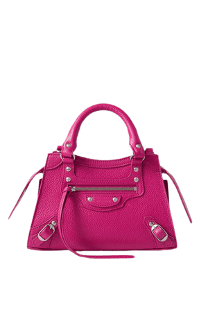 Neo Classic City Mini Textured-leather Tote - Pink