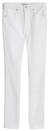 """Women's 10"""" High-Rise Skinny Jeans in Pure White 