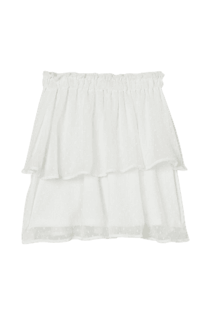 Chiffon Skirt - White - Ladies | H&M US