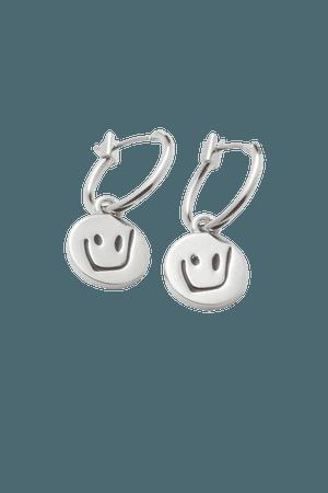 Leo Hoops Earrings - Silver - Jewellery - Weekday WW