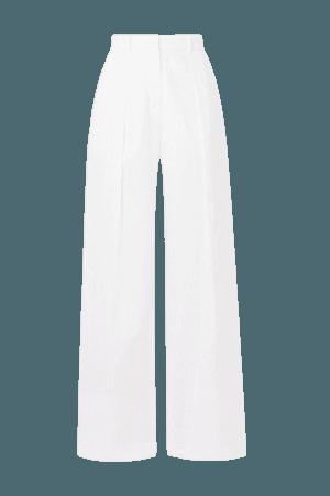 Linen Wide-leg Pants - White