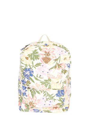 Billabong Schools Out - Floral Print Backpack - Canvas Backpack - Lulus