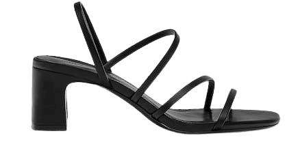 High heel sandals with straps - pull&bear