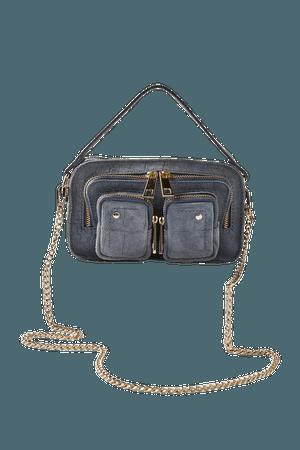 Núnoo Helena Croco Suede Crossbody Bag   Urban Outfitters