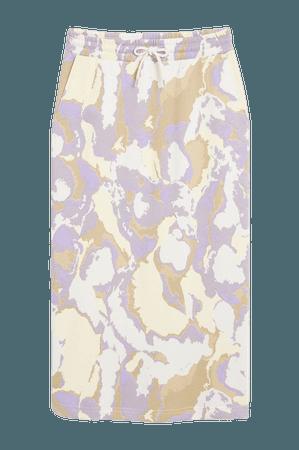 Sweater skirt - Purple marble print - Maxi skirts - Monki WW