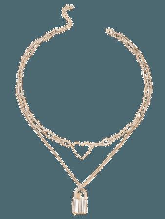 Heart Layered Chain Necklace | SHEIN USA