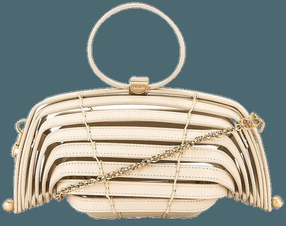 Cult Gaia Lilleth Mini Crossbody Bag in Off White | REVOLVE