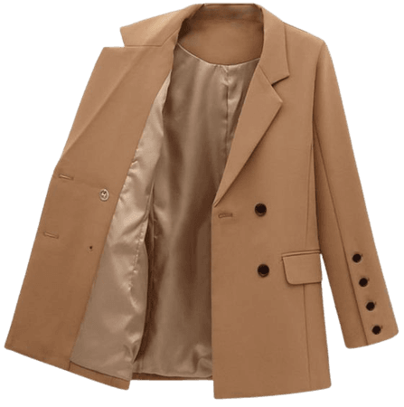 Womens Lapel Long Sleeve Casual Loose Blazer Suit Jacket Outerwear