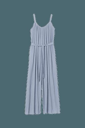 Wide-cut Jumpsuit - Light blue - Ladies   H&M US