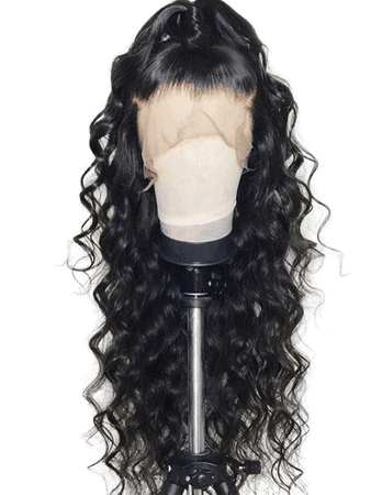 Wholesale Free Part Long Loose Wave Synthetic Lace Front Wig Black Online. Cheap Long Sleeve Party Dress And Long Black Lace Dress on Rosewholesale.com