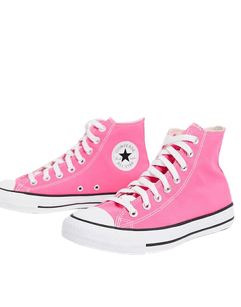 Converse Chuck Taylor All Star Hi canvas sneakers in hyper pink | ASOS