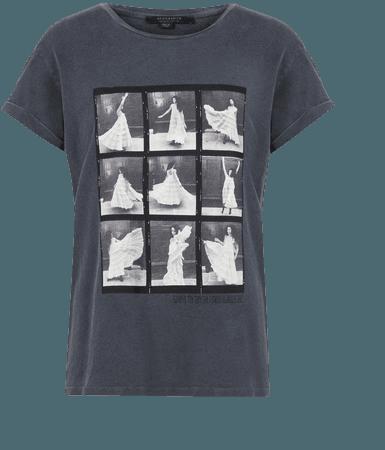 ALLSAINTS US: Womens Livo Anna T-Shirt (vintage_black)