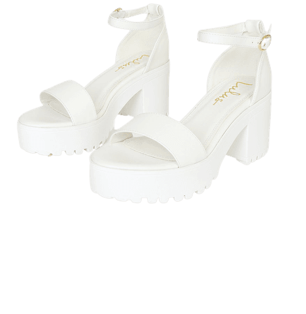 White Platform Sandals - Ankle Strap High Heels - Heeled Sandals - Lulus