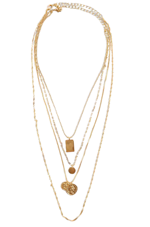 Mixed Pendant Necklace Gold | na-kd.com