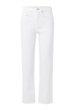 White Maya cropped high-rise straight-leg jeans | rag & bone | NET-A-PORTER