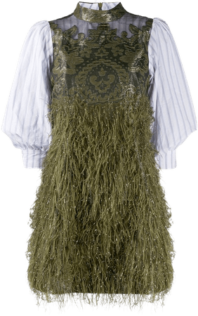 GANNI, Feathery mini dress