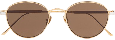 Cartier | Round-frame gold and silver-plated sunglasses | NET-A-PORTER.COM