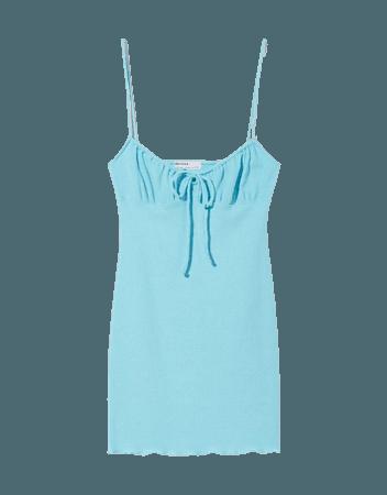 Gathered short dress - New - Woman | Bershka
