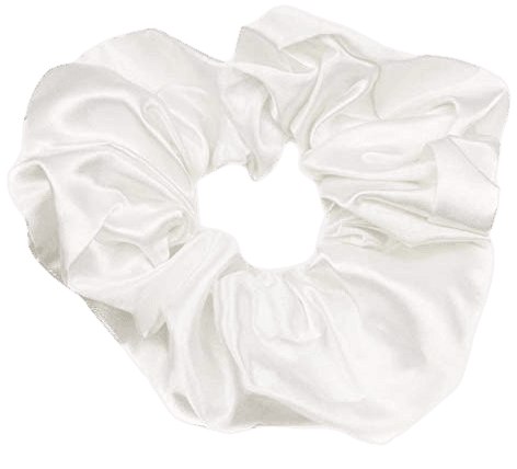 Mytoptrendz® Plain White Satin Hair Scrunchie Bobble bun holder hair band scrunchies for Ponytail Holder Elastic: Amazon.co.uk: Beauty