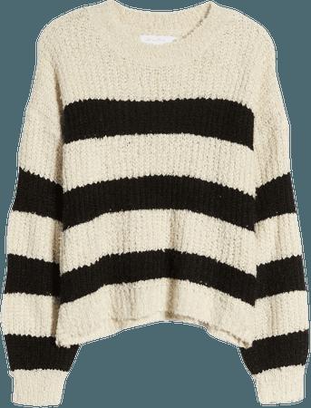 All in Favor Stripe Crewneck Sweater   Nordstrom