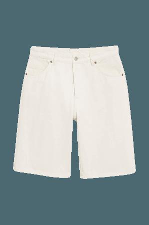 Bermuda denim shorts - White - Denim shorts - Monki WW
