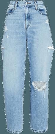FRAME Distressed Barrel-Leg Jeans   INTERMIX®