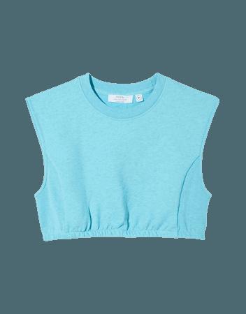 B3 sleeveless plush sweatshirt - Tees and tops - Woman | Bershka