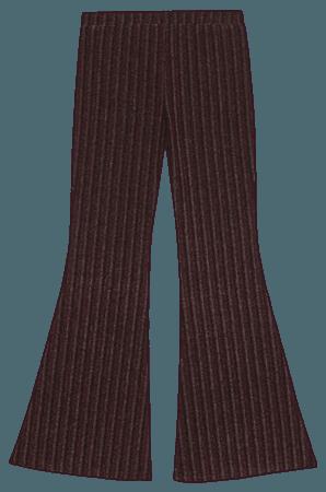 Striped Flare Pants Art Class