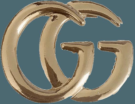 gg gucci logo pin brooch belt buckle