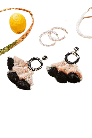 Tassel Ring Earrings