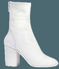 Chanel - Calfskin White Heel Boot