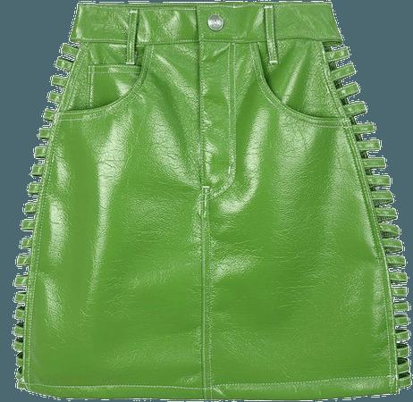SEXY SIDE SKIRT -LIGHT GREEN-