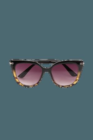 Brown Tortoise Sunglasses - Sunnies - Angular Sunglasses - Lulus