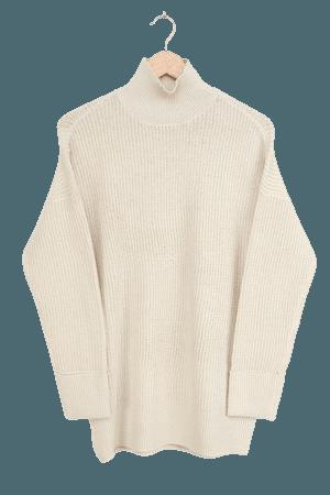 Vero Moda Ruberta Birch - Beige Knit Sweater - Oversized Sweater - Lulus