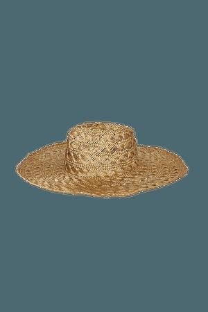 Wyeth Rio Straw Hat - Beige Open Weave Hat - Straw Fedora Hat - Lulus