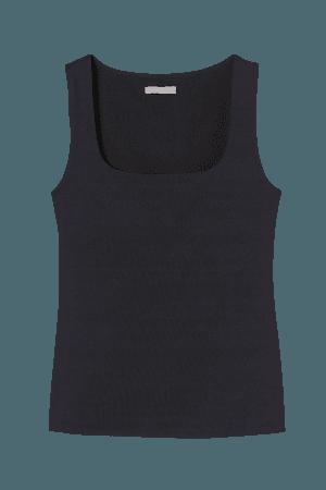 Fitted Tank Top - Black - Ladies | H&M US
