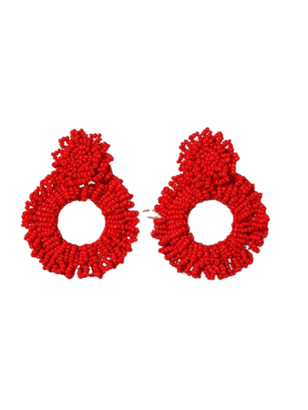Hollow Out Bead Decor Earrings | SHEIN USA