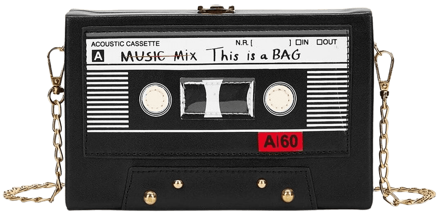 Structured Chain Crossbody Bag Tape Cassette