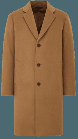 Men Wool Cashmere Blend Chesterfield Coat   UNIQLO UK