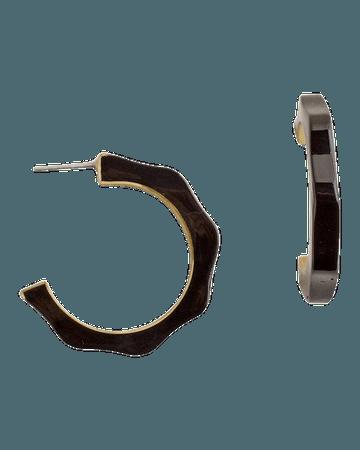 Black Hoop Earrings - Chico's